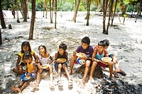 Children Eating, Terra Preta Community, Iranduba, Amazonas, Brazil