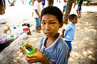 Boy with Toy, Terra Preta Community, Iranduba, Amazonas, Brazil