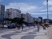 Sidewalk, Atlântica Avenue, Copacabana, Rio de Jan