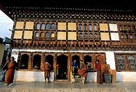 Tshongdue Lam main street, Paro, Bhutan