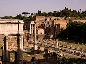 View of Forum Romanum, Rome, Italy