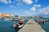 Harbour, Oranjestad, Aruba Island, Kingdom of the Netherlands