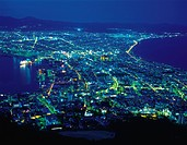 Hakodate city at night, Hokkaido Prefecture, Japan