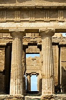 Ancient Greek Temple of Concord Valley of the Temples Agrigento archaeological site Sicily Italy