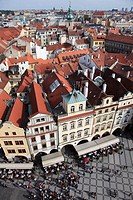 Czech Republic, Prague, Old Town, general aerial view