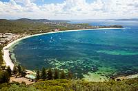 Shoal Bay from Tomaree Head, Port Stephens, New South Wales, Australia