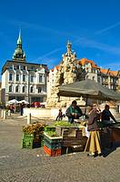 Main market square Brno Czech Republic EU