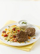 Lamb koftas with couscous