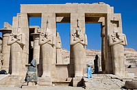 Egypt, Upper Egypt, Nile Valley, surroundings of Luxor, Thebes Necropolis listed as World Heritage by UNESCO, Western area, Ramesseum, Ramses II´s fun...