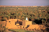 Morocco, Skoura Palmgrove, traditional shrine at the hotel ´Kasbah Ben Moro´