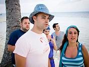 grupo de amigos en Punta Cana, República Dominicana
