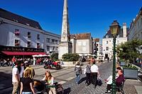 France, Eure et Loir, Chartres, pedestrian downtown, Place Marceau