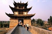 China, Yunnan province, around Jianshui, double dragon bridge
