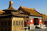 China, Beijing, the Forbidden City listed as World Heritage by UNESCO, golden construction Jindian incarnated the society