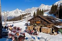 France, Haute Savoie, Mont Blanc Country, Voza Pass restaurant 1653 m