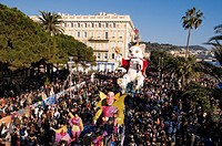 France, Alpes Maritimes, Nice, carnival parade, carnival King