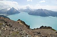 Lake Garibaldi, Garibaldi Park, British Columbia, Canada from Panorama Ridge