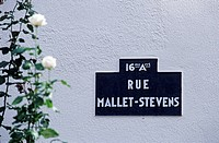 France, Paris, rue Mallet Stevens