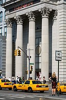United States, New York City, Lower Manhattan, buildings of 1840 of the Union Square Savings Bank converted into the Daryl Roth Theatre in 1997