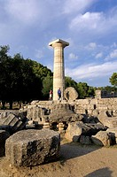 Greece, Peloponnese, Olympia, site listed as World Heritage by UNESCO, Zeus Temple