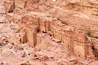 Jordan, Nabaean archeological site of Petra listed as World Heritage by UNESCO, tombs