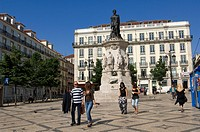 Portugal, Lisbon, Chiado district, Praça Luis de Camoes