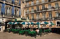 Portugal, Lisbon, Bairro Alto, Cafe terrace
