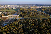 France, Yvelines, Chateau de Versailles Park, listed as World Heritage by UNESCO aerial view