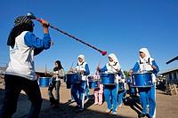 Indonesia, Sunda Islands, Flores, Maumere, Muslims majorettes