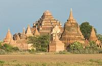 Myanmar Burma, Mandalay Division, Bagan site, brick pagoda of Dhamayangyi Paya