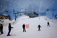 United Arab Emirates, Dubai, Ski Dubaï, skiing piste is 450 meters long, it is minus 5 degrees celsius