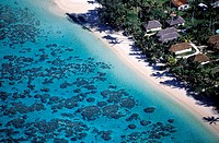 Cook Islands, Rarotonga Island aerial view