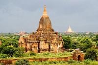 Myanmar Burma, Mandalay Division, Bagan site, temples