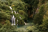 Croatia, Plitvice Lakes National Park listed as World Heritage by UNESCO, cascade