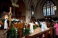United States, Illinois, Chicago, Sunday service at the Saint Sabina catholic church