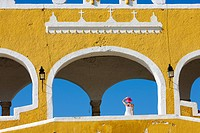 Mexico, Yucatan State, Izamal, the yellow town, Franciscan Convent of San Antonio de Padua Saint Anthony of Padua