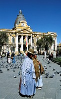 Bolivia, La Paz, Plaza Murillo, Palacio del Gobierno