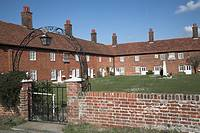 Mary Warner almshouses, Boyton, Suffolk, England