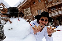 France, Haute Savoie, Megeve, La Ferme de mon Pèrerestaurant, Marc Veyrat restaurant owner