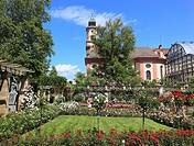 Schloßkirche St  Marien auf der Insel Mainau, Bodensee, Landkreis Konstanz, Baden Württemberg, Deutschland / Castle Church of St  Marien on Mainau Isl...