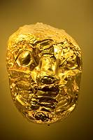 Golden Face, Pre-Columbian artefact, Museo de Oro, Gold Museum, Bogota, Colombia