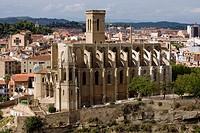 Colegiata Basílica de Santa Maria de Manresa, La Seu  Gótica  Siglos XIV-XV  España, Catalunya, provincia de Barcelona, Bages, Manresa