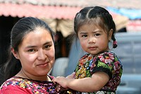mother and daughter, Guatemala