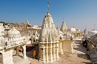 India, Gujarat, Bhavnagar district, The approximate 1000 Jain temples of Palitana built between the 11th and 16th century on Shetrunjaya Hill at an al...