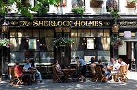United Kingdom, London, Marylebone, Baker Street, The Sherlock Holmes restaurant and pub