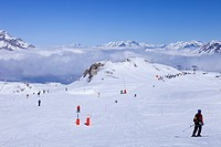 France, Hautes Alpes, Southern Alps, ski resort of Super Devoluy