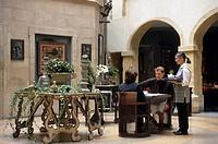 France, Rhone, Lyon, La Cour des Loges Hotel