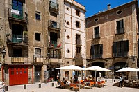 Spain, Catalonia, Barcelona, Barrio Gotico District, Placa Sant Just