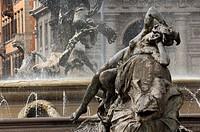 Italy, Lazio, Rome, Piazza della Repubblica in the Viminale district