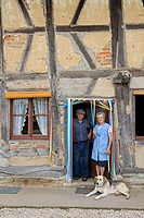 France, Saone et Loire, Sagy, Ferme du Bailly, Paul and Paulette Coulon